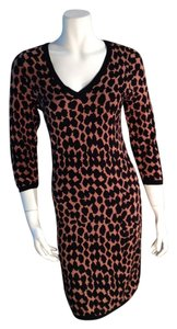 Max Studio Animal Print Leopard Sweater Dress
