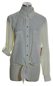 Vince Camuto Long Sleeve Button Down Shirt Ivory