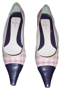 Linea Paolo Plaid Business Work pink purple Pumps