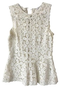 INTERMIX Crochet Festival Top Off White