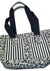 Lunch Office Tote in black and gray