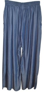 Blanque Lyocell Baggy Wide Leg Pants Blue