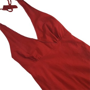 Red Maxi Dress by J.Crew Embroidered Halter