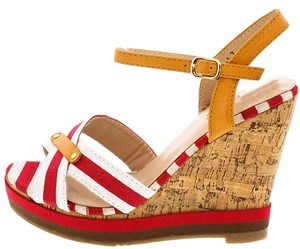 Other Nautical Stripe Brown Wedges