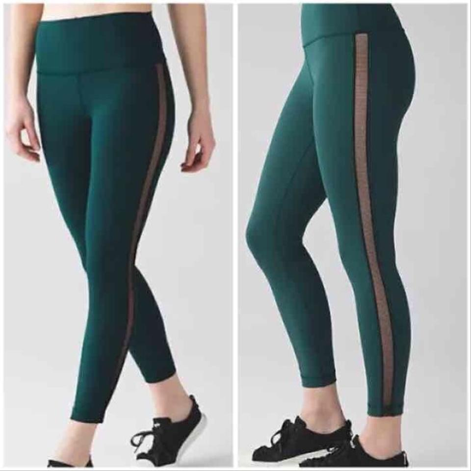 Lululemon DEEP GREEN Nwt High Times Wing Mesh Size 4 Leggings