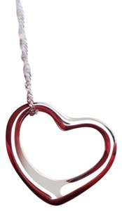 New Silver Tone Heart Pendant Necklace J2685 Summersale
