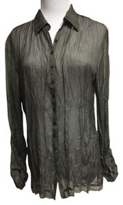 Elie Tahari Alison Shirt Top Gray