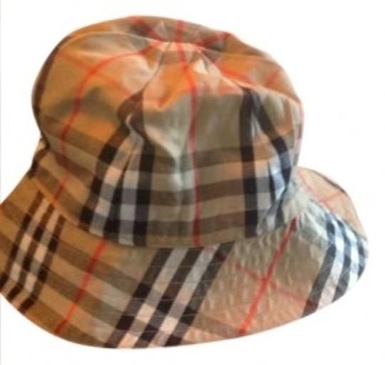 Preload https://item2.tradesy.com/images/burberry-camel-red-and-black-reversible-to-camel-only-bucket-hat-166226-0-0.jpg?width=440&height=440