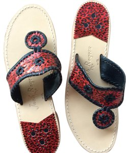 Jack Rogers Red and black Sandals