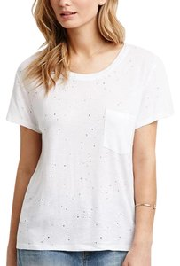 Forever 21 Distressed T Shirt White