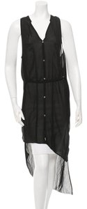 Helmut Lang short dress Black Sheer Hi Lo on Tradesy