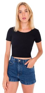 American Apparel Crop T Shirt Black