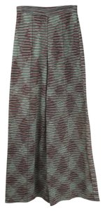 M Missoni Work Wide Leg Pants green and red