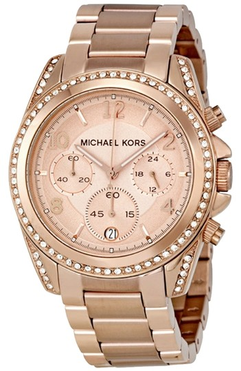 Preload https://item1.tradesy.com/images/michael-kors-rose-gold-tone-bnwt-blair-ladies-free-shipping-watch-1662320-0-0.jpg?width=440&height=440