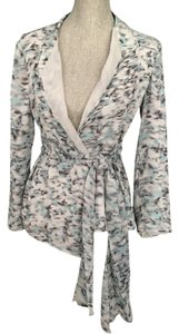 Armani Collezioni Light gray, black, aqua Jacket