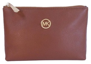 Michael Kors Michael Kors Fulton Travel Cosmetic Case Phone Case Clutch NWT Luggage Brown Leather