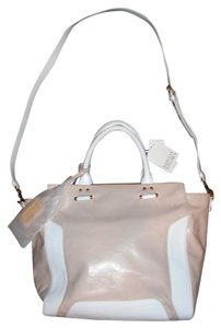 Badgley Mischka 2 Handles Strap Tote in pink white