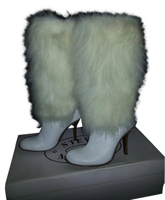 Item - White Foxie Leather Boots/Booties Size US 7.5 Regular (M, B)