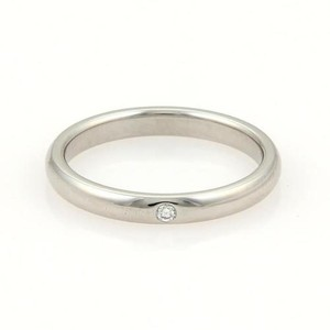 Tiffany & Co. Tiffany Co. Peretti Platinum Diamond 3mm Dome Wedding Band Ring