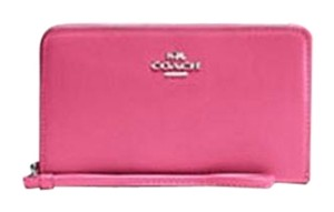 Coach Coach Universal Zip Case in Smooth Leather Dahlia Wallet NWT 65984