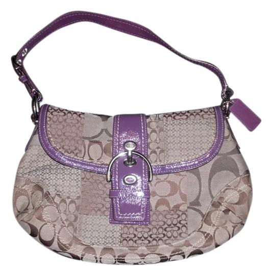 Preload https://item4.tradesy.com/images/coach-f12316-soho-signature-patchwork-flap-khaki-and-purple-canvas-leather-shoulder-bag-1662428-0-0.jpg?width=440&height=440