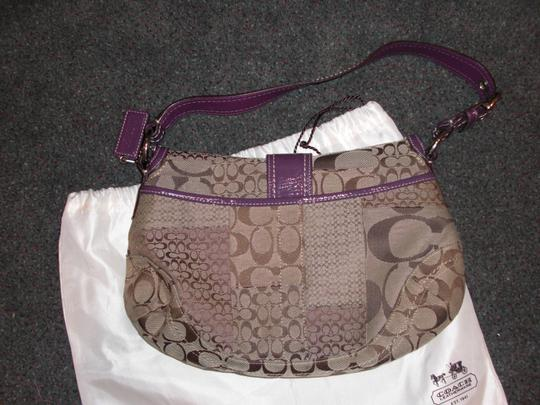 Coach Signature Patchwork Flap Shoulder Bag