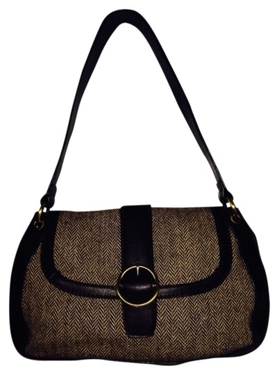 Preload https://item1.tradesy.com/images/ann-taylor-loft-brown-fabric-and-leather-shoulder-bag-1662445-0-0.jpg?width=440&height=440