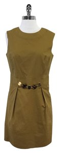 MILLY short dress Sleeveless Gold Embellishment on Tradesy