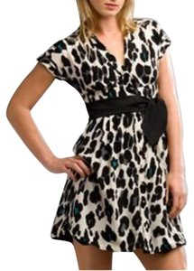 Nanette Lepore Silk Belted Cheetah Dress