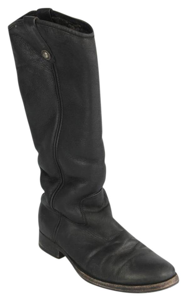 Frye Black Melissa Button Button Melissa Shearling-lined Boots/Booties c0f68d