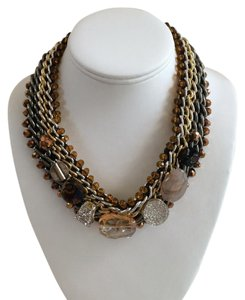 Gorgeous Multi-Chain and Stone Necklace