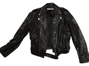 Lynn Adler black Leather Jacket