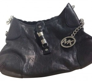 Michael Kors Leather Night Out Concert Date Night Thin Clutch Girls Night Girl's Night Cute New Silver Satchel in Black