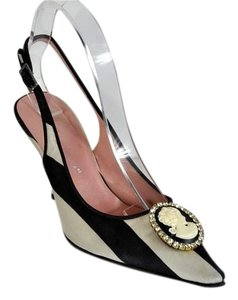 Dolce&Gabbana Vintage Striped Cameo Multi color Pumps