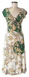 Just Cavalli Scroll Print Shift Sheath Dress