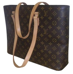 Louis Vuitton Monogram Canvas Luco Tote in Brown