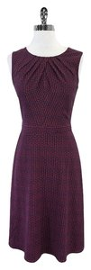 Tory Burch short dress Navy Red Print Silk Sleeveless on Tradesy