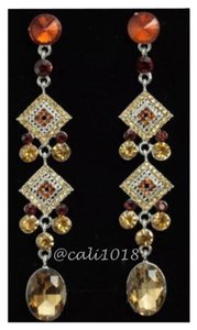 Other Brown Austrian Crystal Dangle Earrings 3.93