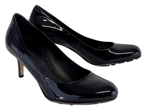 Cole Haan Black Patent Leather Air Talia Mid Pumps