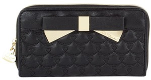 Betsey Johnson Wallet Clutch Wristlet in Black