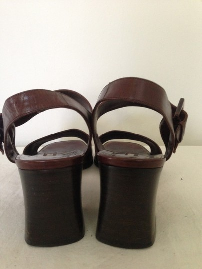 bd96a8c9c Brown All Leather Sandals Size US 9 Narrow (Aa