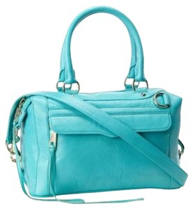 Rebecca Minkoff Classic Leather Mabmini Satchel in Seagreen
