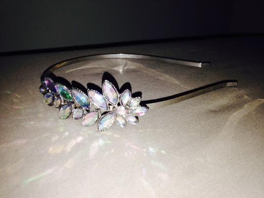 Preload https://item2.tradesy.com/images/claire-s-silver-bejeweled-headband-hair-accessory-1662581-0-0.jpg?width=440&height=440