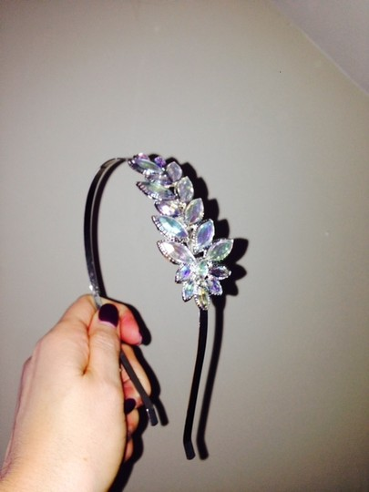 Claire's Silver Bejeweled Headband Hair Accessory