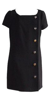 Prada short dress Black Wool Side Button on Tradesy