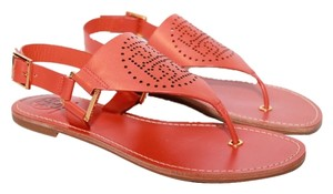 Tory Burch Thong New Size 8 Perforated Orange Sandals