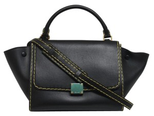 Céline Pamelato Leather black Messenger Bag