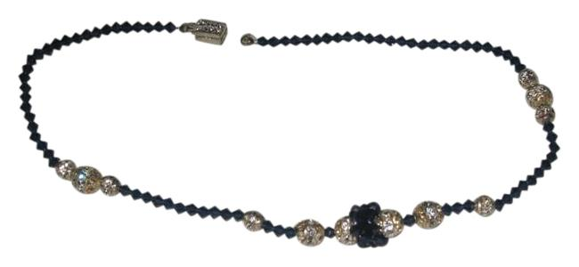 "Item - Dark Indigo Hol250n - 16"" ( N-36) Crystal with Woven Clusters Necklace"