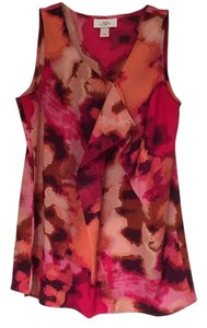 Ann Taylor LOFT Top Pink, lavendar, brown, tan, orange