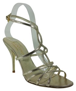 Valentino Worn Once Ankle Strap Gold Sandals